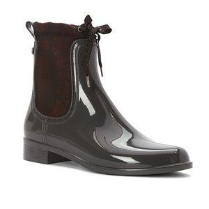 NWT IGOR Dark Grey/Snake Skin Design Low Rain Boot